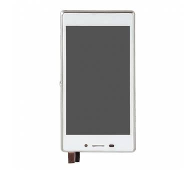 Pełny ekran z ramką dla Sony Xperia M2 D2302 D2303 D2305 D2306 biały ARREGLATELO - 4