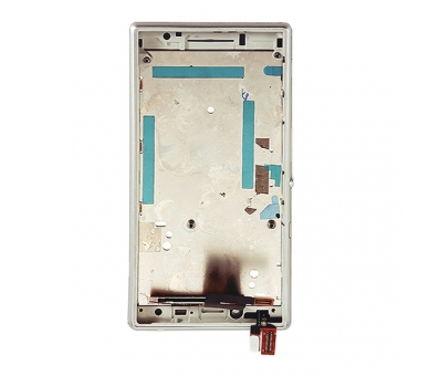 Display For Sony Xperia M2, Color White, With Frame ARREGLATELO - 5