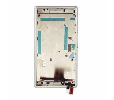 Pełny ekran z ramką dla Sony Xperia M2 D2302 D2303 D2305 D2306 biały ARREGLATELO - 5