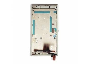 Pantalla Completa con Marco para Sony Xperia M2 D2302 D2303 D2305 D2306 Blanco ARREGLATELO - 5