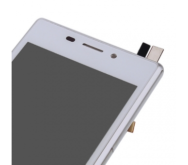Display For Sony Xperia M2, Color White, With Frame ARREGLATELO - 7