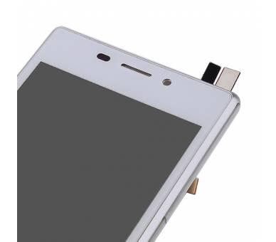 Pełny ekran z ramką dla Sony Xperia M2 D2302 D2303 D2305 D2306 biały ARREGLATELO - 7