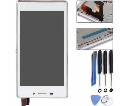 Pełny ekran z ramką dla Sony Xperia M2 D2302 D2303 D2305 D2306 biały ARREGLATELO - 1