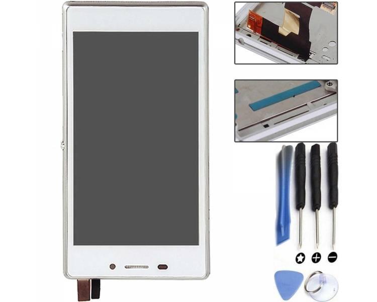 Volledig scherm met frame voor Sony Xperia M2 D2302 D2303 D2305 D2306 Wit FIX IT - 1
