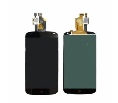 Vollbild für LG NEXUS 4 E960 Schwarz Schwarz ARREGLATELO - 2