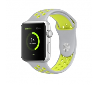Apple Watch (Series 2) 42 mm - Zilver Aluminium - Grijs / Groen Sportbandje