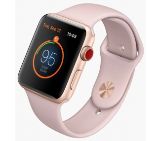 Apple Watch (Series 3) 38 - Aluminium or - Bracelet Sport Rose des sables