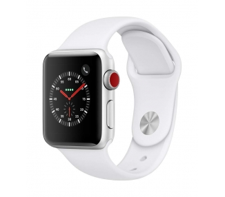 Apple Watch (Series 3) 42 - Aluminium Argent - Armband Sport Blanc