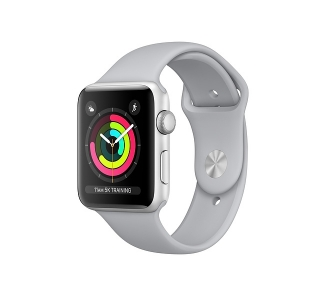 Apple Watch (Series 3) 42 - Aluminium Aluminium Argent - Bracelet Sport Nuage
