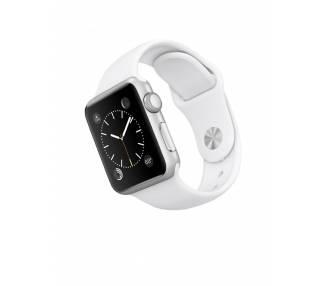 Apple Watch (Series 2) 42 mm Aluminio - Pulsera deportiva blanca  - 1