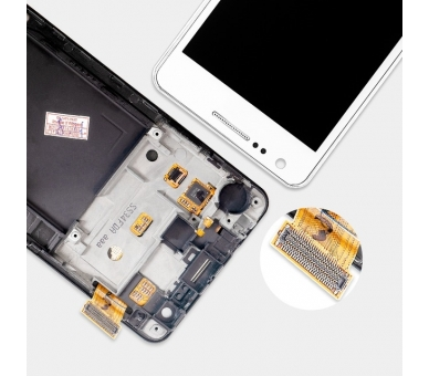 Display For Samsung Galaxy S2 | Color White | With Frame | A ULTRA+ - 2