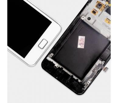 Bildschirm Display mit Rahmen für Samsung Galaxy S2 i9100 Weiß ULTRA+ - 3