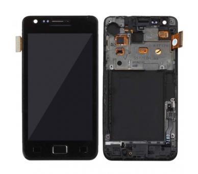 Pantalla Completa con Marco para Samsung Galaxy S2 i9100 Negro Negra ULTRA+ - 1