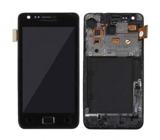 Pantalla Completa con Marco para Samsung Galaxy S2 i9100 Negro Negra ARREGLATELO - 2