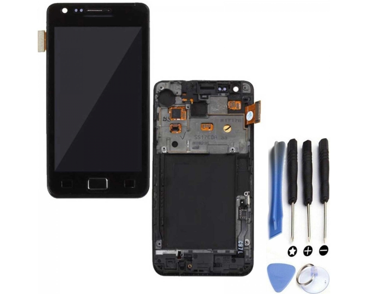 Display For Samsung Galaxy S2 | Color Black | With Frame | A ULTRA+ - 1