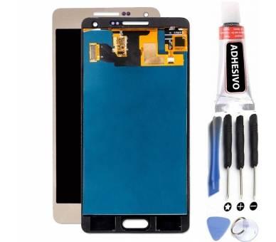 Vollbild für Samsung Galaxy A5 SM-A500 A500F Gold Gold ARREGLATELO - 1
