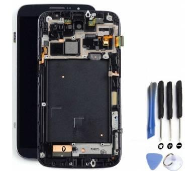 Pełny ekran dla Samsung Galaxy Mega i9200 i9105 Czarny Czarny ARREGLATELO - 1