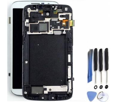 Schermo intero per Samsung Galaxy Mega i9200 i9105 Bianco Bianco ARREGLATELO - 1