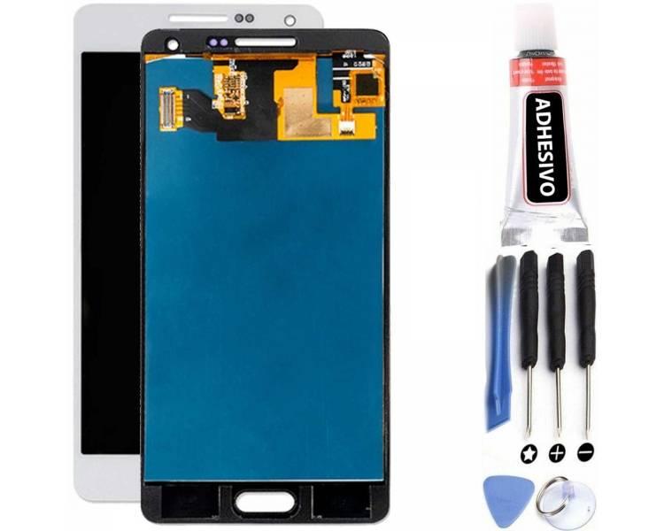 Pełny ekran do Samsung Galaxy A5 SM-A500 A500F Biały Biały ARREGLATELO - 1