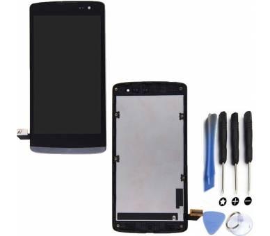 Pełny ekran z Ramką do LG Leon H340 H340N Czarny Czarny ARREGLATELO - 1