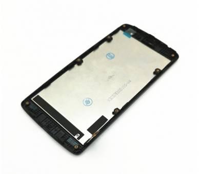 Pełny ekran z Ramką do LG Leon H340 H340N Czarny Czarny ARREGLATELO - 4