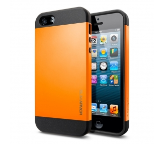 FUNDA CARCASA TPU para IPHONE 5 5S SLIM ARMOR COLOR NARANJA  - 1