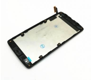 Pełny ekran z Ramką do LG Leon H340 H340N Czarny Czarny ARREGLATELO - 5