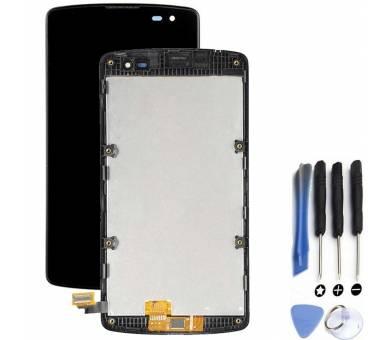 Pełny ekran z Ramką do LG L Fino F60 D390 Czarny Czarny ARREGLATELO - 1