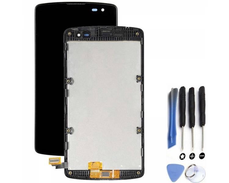 Pełny ekran z Ramką do LG L Fino F60 D390 Czarny Czarny