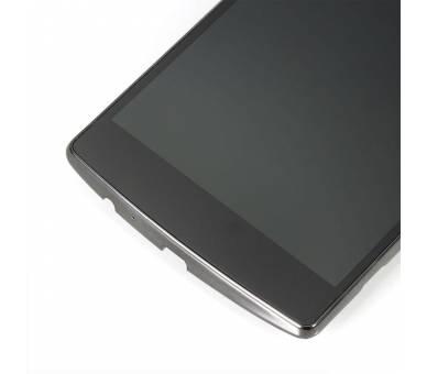 Vollbild mit Rahmen für LG G4 H815 H818 Schwarz Schwarz ARREGLATELO - 4