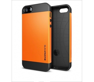 FUNDA CARCASA TPU para IPHONE 5 5S SLIM ARMOR COLOR NARANJA  - 2