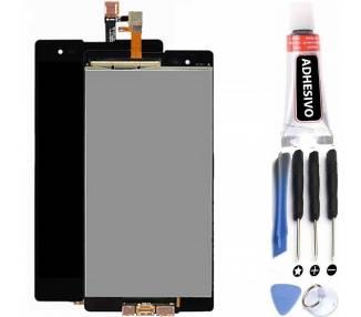 Pełny ekran dla Sony Xperia T2 Ultra D5303 D5306 Czarny Czarny