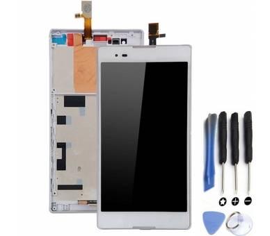 Schermo intero per Sony Xperia T2 Ultra D5303 D5306 Bianco Bianco ARREGLATELO - 1