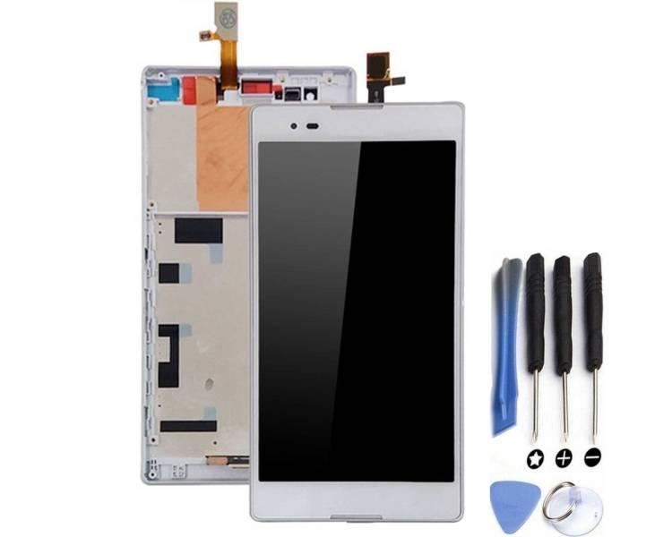 Pełny ekran dla Sony Xperia T2 Ultra D5303 D5306 Biały Biały ARREGLATELO - 1