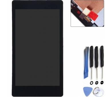 Pełny ekran z Ramką dla Sony Xperia T2 Ultra D5303 D5306 Czarny Czarny ARREGLATELO - 1