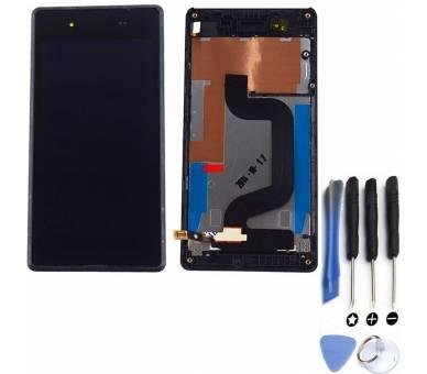 Volledig scherm voor Sony Xperia E3 D2202 D2203 Zwart Zwart FIX IT - 1