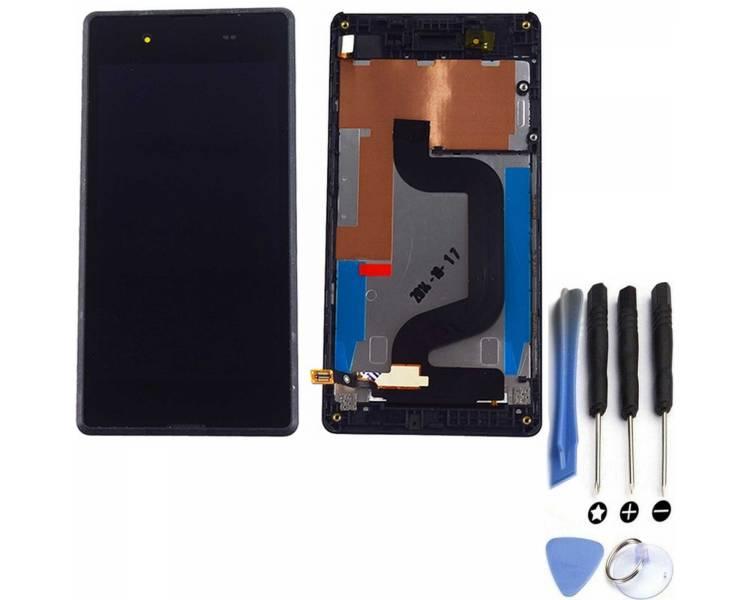 Pełny ekran dla Sony Xperia E3 D2202 D2203 Czarny Czarny ARREGLATELO - 1