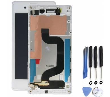 Pełny ekran dla Sony Xperia E3 D2202 D2203 Biały Biały ARREGLATELO - 1