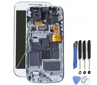Display For Samsung Galaxy S4 Mini, Color White, With Frame, A