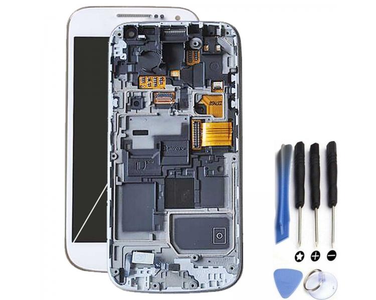 Pełny ekran z ramką do telefonu Samsung Galaxy S4 Mini i9195 Biały Biały ARREGLATELO - 1