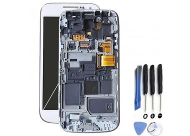 Pantalla Completa con Marco para Samsung Galaxy S4 Mini i9195 Blanco Blanca ARREGLATELO - 1