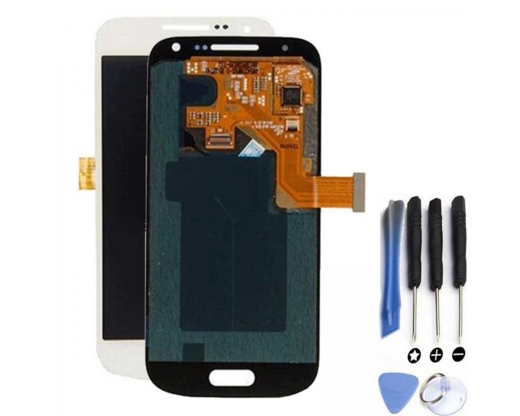 Pełny ekran dla Samsung Galaxy S4 Mini i9195 Biały Biały ARREGLATELO - 1