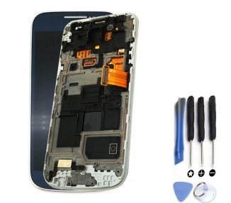 Display For Samsung Galaxy S4 Mini, Color Blue, With Frame, OLED