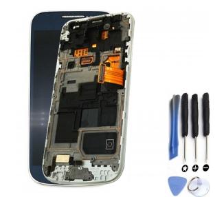 Pantalla Completa con Marco para Samsung Galaxy S4 Mini i9195 Azul ARREGLATELO - 1