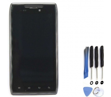 Display For Motorola RAZR XT910, Color Black, With Frame ARREGLATELO - 1