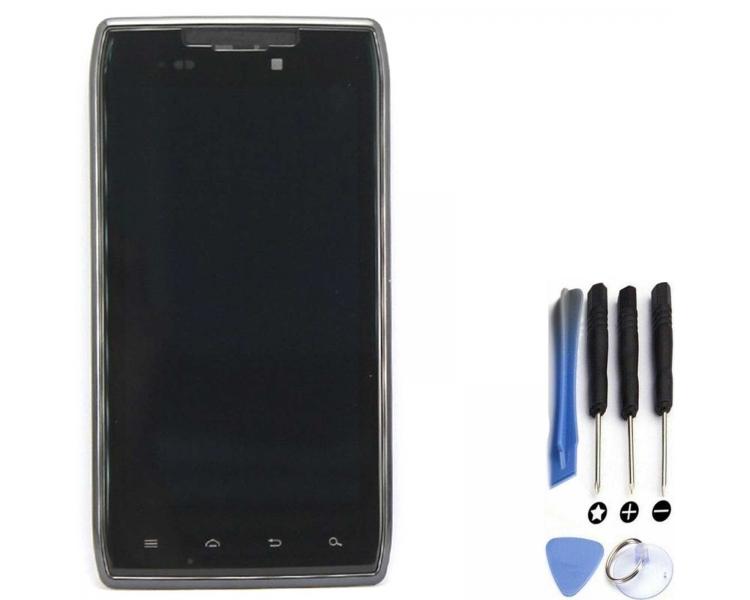 Volledig scherm met frame voor Motorola Droid RAZR XT910 XT912 Zwart Zwart FIX IT - 1