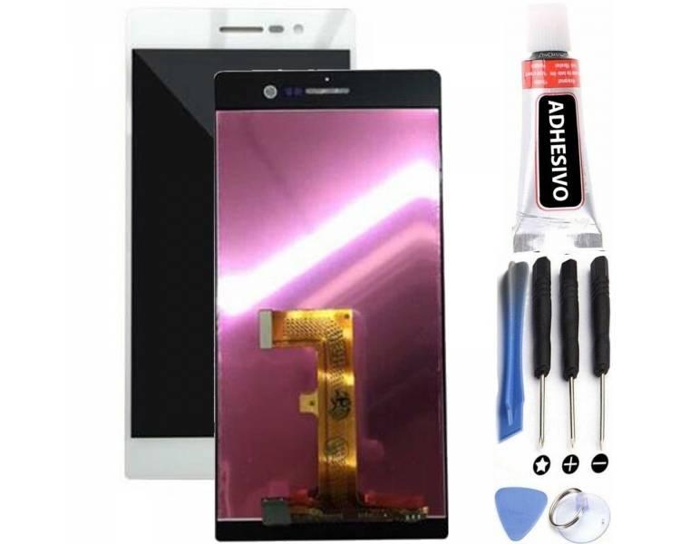 Schermo intero per Huawei Ascend P7 Bianco Bianco Huawei - 1