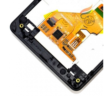 Schermo con Frame per Sony Xperia Z1 Compact D5503 Nero ARREGLATELO - 1