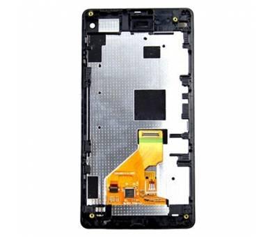 Pantalla Completa con Marco para Sony Xperia Z1 Compact D5503 Negro Negra ULTRA+ - 2