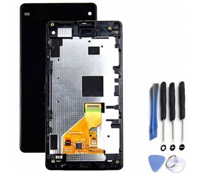 Schermo con Frame per Sony Xperia Z1 Compact D5503 Nero ARREGLATELO - 3